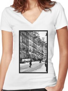 crossing Women's Fitted V-Neck T-Shirt