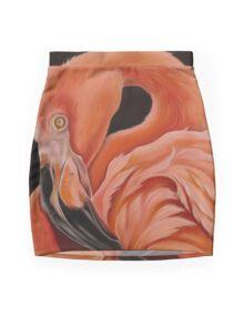 Flamingo Portrait Mini Skirt