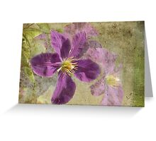 Clematis with Grunge Greeting Card