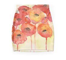 Red Poppy Mini Skirt