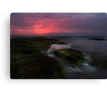 Mornington Peninsula - ocean sunset at Blairgowrie Canvas Print