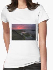 Mornington Peninsula - ocean sunset at Blairgowrie Womens Fitted T-Shirt