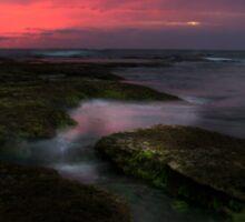Mornington Peninsula - ocean sunset at Blairgowrie Sticker