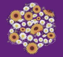 Sunflower Daisy Flower T-shirt by ruxique
