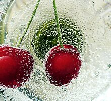 Cherry on water by Madalina Simona