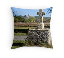 Stone Cross, Dordogne Valley Throw Pillow