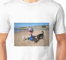 5 Sera with her Spoodle, Beagle & Schitzu  Unisex T-Shirt