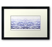 Ombre Waves Framed Print