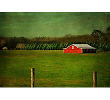 The Red Farmhouse Photographic Print