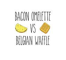 Life is Strange - Bacon Omelette VS Belgian Waffle Photographic Print
