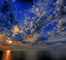 Sailing Into The Sunset by Ron Waldrop