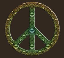 Earthy Abstract Peace Sign  T-Shirt
