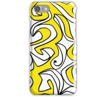 Elixir Abstract Art Yellow Black White iPhone Case/Skin