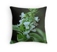 Flowering Basil Throw Pillow