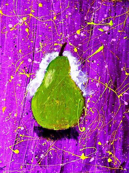 Pear on Purple. by Paul Rees-Jones