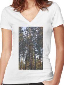 Nine Mile Trees Women's Fitted V-Neck T-Shirt