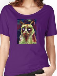 Grumpy Zombie Cat Women's Relaxed Fit T-Shirt