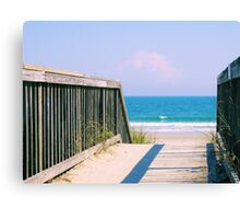 Nice Day For The Beach Canvas Print