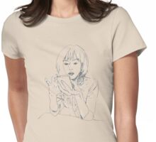Tani on the Phone Womens Fitted T-Shirt