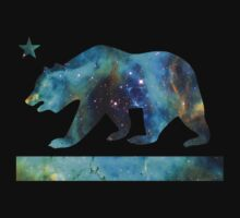 California Bear Flag (deep galaxy design) One Piece - Short Sleeve