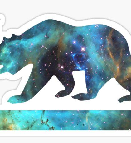 California Bear Flag (deep galaxy design) Sticker