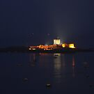 St Aubin's Fort at Night by Rachael Lynch