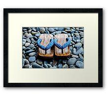 Japanese Sandals Framed Print