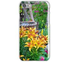 Lily Garden Scene iPhone Case/Skin