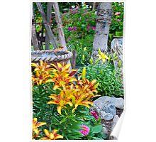 Lily Garden Scene Poster