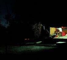 Guest hut at night by Richard Jones by Arte Moris