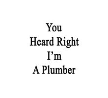 You Heard Right I'm A Plumber  by supernova23