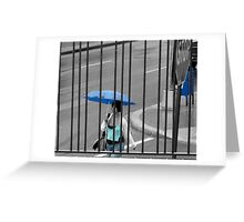 Then the Rain Blue In Greeting Card
