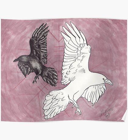 Odin's Ravens, Huginn & Muninn Poster