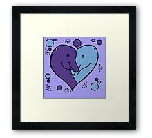 For the love of Dolphins Framed Print