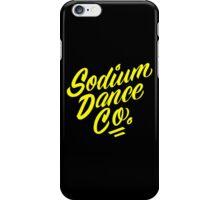 Sodium Dance Co. Script Logo - Yellow Lettering iPhone Case/Skin