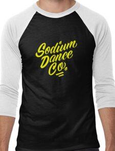Sodium Dance Co. Script Logo - Yellow Lettering Men's Baseball ¾ T-Shirt