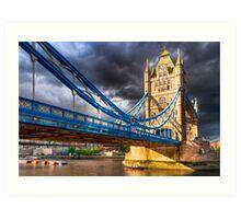 Landmark On The Thames - London Tower Bridge Art Print