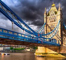 Landmark On The Thames - London Tower Bridge by Mark Tisdale