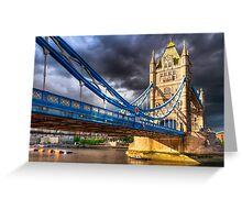Landmark On The Thames - London Tower Bridge Greeting Card