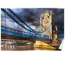 Landmark On The Thames - London Tower Bridge Poster