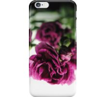 Pink Carnations on White Light iPhone Case/Skin