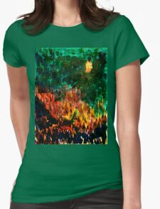 Forest Sunset Womens Fitted T-Shirt
