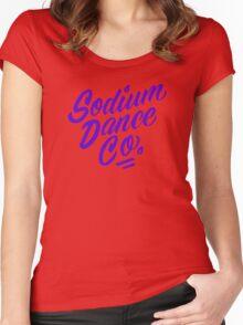 Sodium Dance Co. Script Logo - Purple Lettering Women's Fitted Scoop T-Shirt