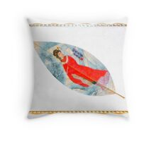 Leaf Vein Painting--Pure Hand-Made Painting On Real Leaf Throw Pillow