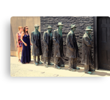 Is This The Line For The Ladies Room? Canvas Print