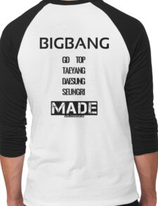 BIGBANG 'MADE' FANMADE Men's Baseball ¾ T-Shirt