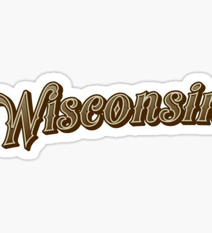 Wisconsin (Engraved) Sticker