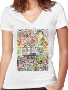 Farewell Dunder Mifflin Women's Fitted V-Neck T-Shirt