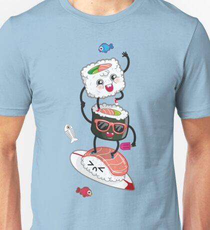 Surfin' sushi Unisex T-Shirt