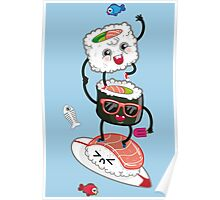 Surfin' sushi Poster